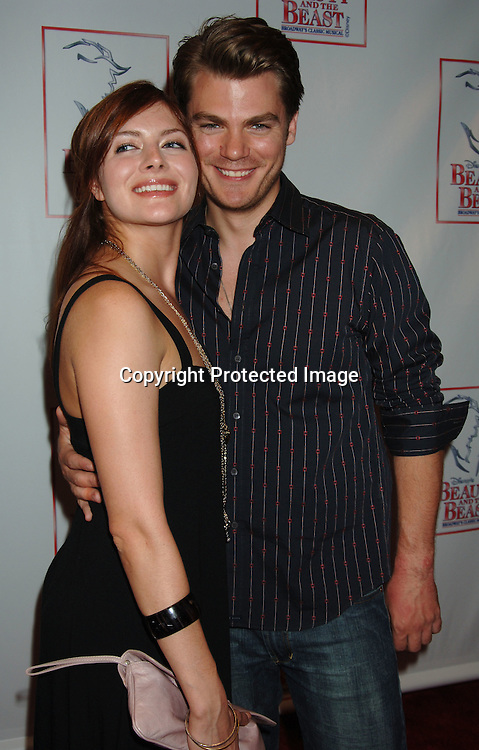 "Connie Fletcher and Jeff Branson..at The 5000th performance of ""Beauty and The Beast""..on June 20, 2006 at The Lunt-Fontanne Theatre...Jacob Young of All My Children is starring as Lumiere. ..Robin Platzer, Twin Images"