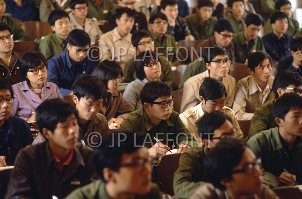 October 1984. In Shang Xi province, at the Jiaotong University, a physics course.