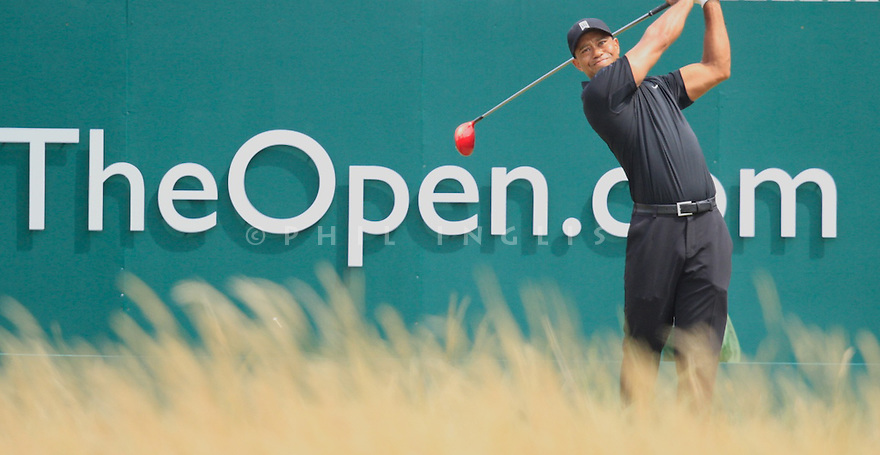 Tiger WOODS (USA) in action during the second round of the 143rd Open Championship played at Royal Liverpool Golf Club, Hoylake, Wirral, England. 17 - 20 July 2014 (Picture Credit / Phil Inglis)