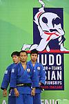 (L to R) Riki Nakaya, Masashi Ebinuma, Takahiro Nakai (JPN), .April 21, 2013 - Judo : .Asian Judo Championships 2013, Men's Team Competition Final .at Bangkok Youth Centre, Bangkok, Thailand. .(Photo by Daiju Kitamura/AFLO SPORT) [1045]