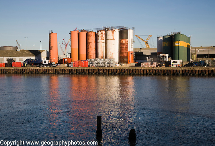 Dockside fuel storage containers, Great Yarmouth, England