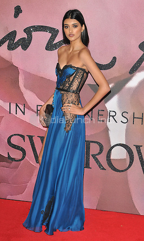 Neelam Gill at the Fashion Awards 2016, Royal Albert Hall, Kensington Gore, London, England, UK, on Monday 05 December 2016. <br /> CAP/CAN<br /> ©CAN/Capital Pictures /MediaPunch ***NORTH AND SOUTH AMERICAS ONLY***