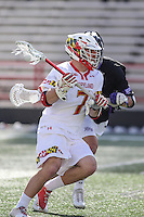 College Park, MD - February 18, 2017: Maryland Terrapins Tim Rotanz (7) in action during game between High Point and Maryland at  Capital One Field at Maryland Stadium in College Park, MD.  (Photo by Elliott Brown/Media Images International)