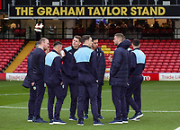 Burnley's players inspecting the pitch before the match<br /> <br /> Photographer Andrew Kearns/CameraSport<br /> <br /> The Premier League - Watford v Burnley - Saturday 19 January 2019 - Vicarage Road - Watford<br /> <br /> World Copyright © 2019 CameraSport. All rights reserved. 43 Linden Ave. Countesthorpe. Leicester. England. LE8 5PG - Tel: +44 (0) 116 277 4147 - admin@camerasport.com - www.camerasport.com