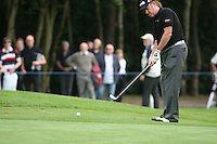 Miguel Angel Jimenez chips onto the 13th green during the final round of the 2008 BMW PGA Championship at Wentworth Club, Surrey, England 25th May 2008 (Photo by Eoin Clarke/GOLFFILE)
