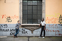Dmitri Gaskin and Anthony Russel members of Tzvey Brider duet in Mexico City, Colonia Condesa and Roma, Mexico City, Mexico
