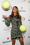 Kelly Killoren Bensimon plays with oversized Wilson Tennis balls at the US Open Player Party at The Empire Hotel, August 27, 2010.