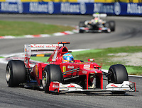 09.09.2012. Monza, Italy. Fernando Alonso of Ferrari in action during the GP of Italy 2012.