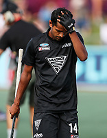 Dejected Jared Panchia. Pro League Hockey, Vantage Blacksticks Men v Argentina. North Harbour Hockey Stadium, Auckland, New Zealand. Sunday 10 March 2019. Photo: Simon Watts/Hockey NZ