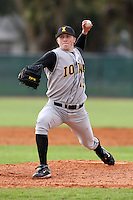 February 27, 2010:  Pitcher Michael (Mike) Jacobs (19) of the Iowa Hawkeyes during the Big East/Big 10 Challenge at Raymond Naimoli Complex in St. Petersburg, FL.  Photo By Mike Janes/Four Seam Images