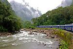 Train from OllanTamba to Machu Picchu
