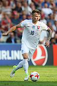 June 19th 2017, Kielce, Poland; UEFA European U-21 football championships, England versus Slovakia; Albert Rusnak (SLO) on the ball