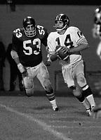 Tom Wilkinson quarterback B.C. Lions 1971 in a pre season game against the Ottawa Rough Riders.. Photo copyright Scott Grant