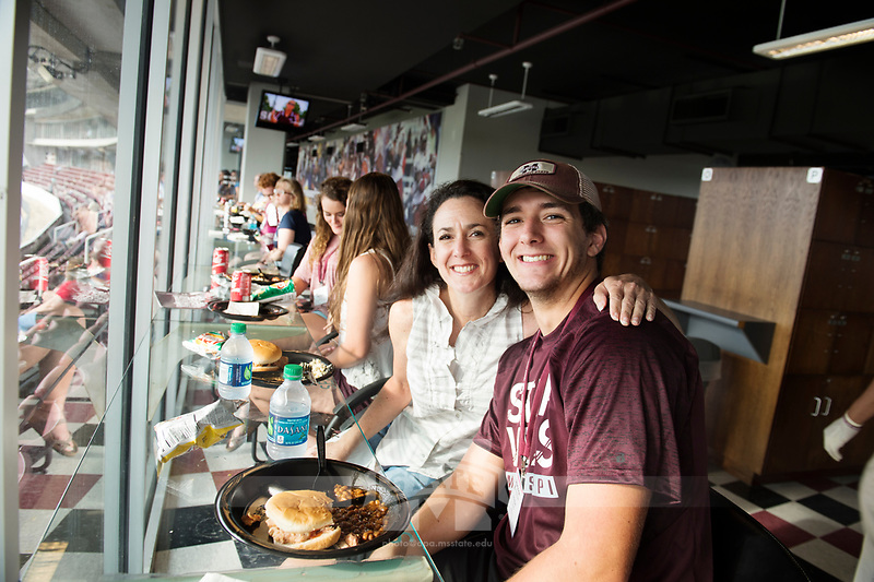 Orientation for incoming students and their parents: dinner at Club Level, Davis Wade Stadium.<br />  (photo by Megan Bean / &copy; Mississippi State University)