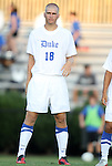 09 September 2011: Duke's Nat Eggleston. The University of Virginia Cavaliers defeated the Duke University Blue Devils 1-0 at Koskinen Stadium in Durham, North Carolina in an NCAA Division I Men's Soccer game.