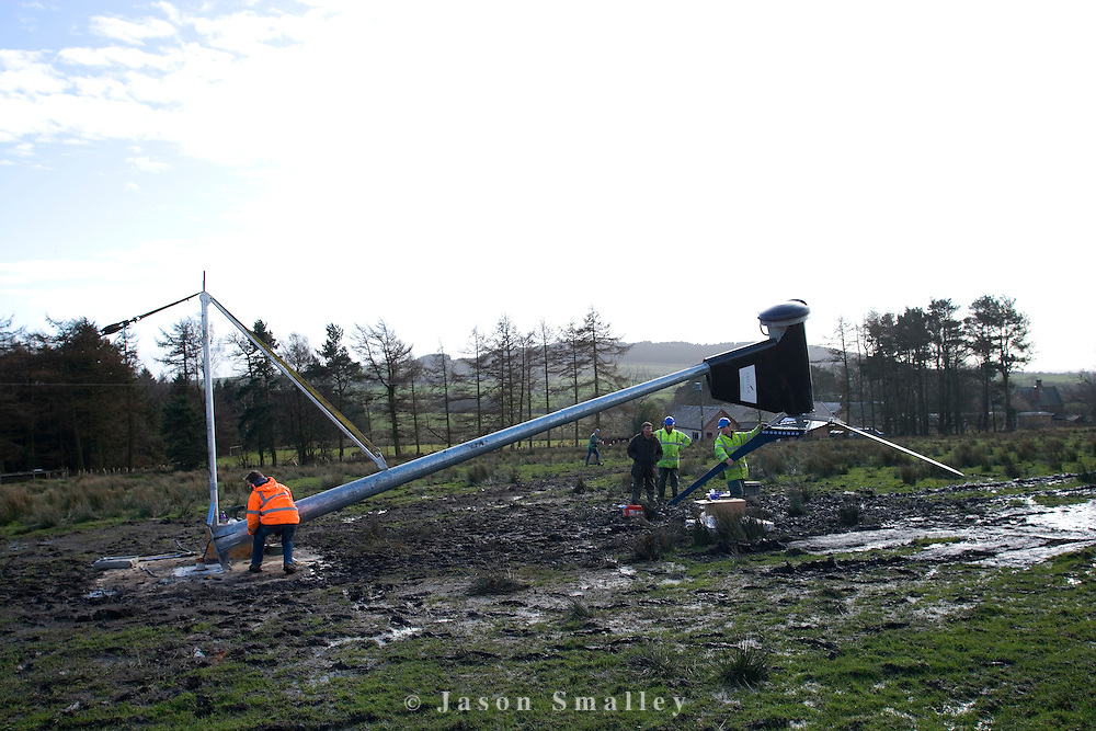 Team-workers-preparing-small-6KW-wind-turbine-erection-Bowland-122b