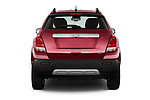 Straight rear view of 2015 Chevrolet Trax LTZ 5 Door SUV Rear View  stock images