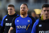 Ross Batty of Bath Rugby looks on prior to the match. Gallagher Premiership match, between Bath Rugby and Exeter Chiefs on October 5, 2018 at the Recreation Ground in Bath, England. Photo by: Patrick Khachfe / Onside Images