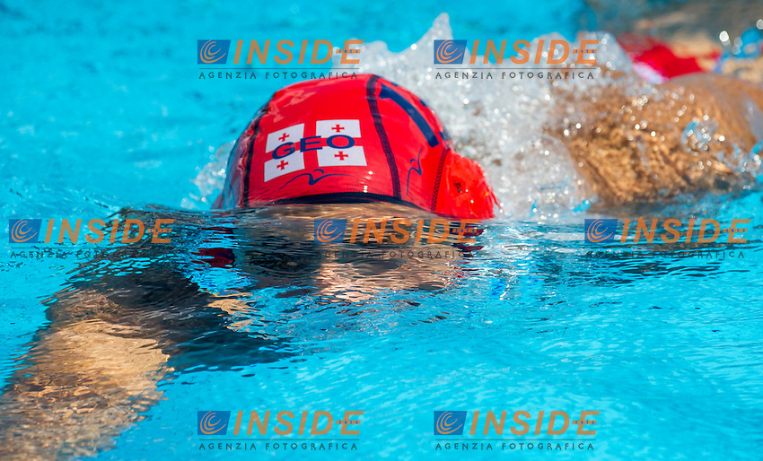 13 KAPANADZE Beka GEO<br /> Romania (White) Vs Georgia (Black)<br /> ROU-GEO<br /> LEN European Water Polo Championships 2014<br /> Alfred Hajos -Tamas Szechy Swimming Complex<br /> Margitsziget - Margaret Island<br /> Day01 - July 14 <br /> Photo Pasquale Mesiano/Inside/