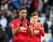 3rd February 2019, King Power Stadium, Leicester, England; EPL Premier League Football, Leicester City versus Manchester United; Anthony Martial of Manchester United applauds the fans at the end of the game