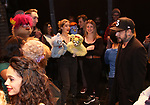 "AJ McLean from the Backstreet Boys backstage with the cast and crew of  ""Avenue Q""  at the New World Stages on January 27, 2019 in New York City."