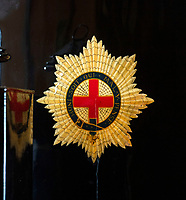 BNPS.co.uk (01202 558833)<br /> Pic: PhilYeomans/BNPS<br /> <br /> The original crests of England, Ireland, Scotland and Wales have been preserved on the leather clad carriage.<br /> <br /> Last Post - Britain's last Royal Mail carriage, that bizarrely once survived an attack by a lion outside Salisbury, has been saved for the nation.<br /> <br /> The 200-year-old horse-drawn carriage harks back to the golden age of the Royal Mail when crowds gathered along the route to see the lightning-quick service thunder by.<br /> <br /> The restored four horse coach was known as 'Quicksilver' as it was the fastest in the land on its regular 21 hour run from Devonport, Devon, to London.<br /> <br /> But the red and black wooden wagon went down in history for an extraordinary incident involving a lion in the English countryside in 1816.