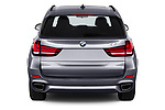 Straight rear view of a 2018 BMW X5 Plug-in Hybrid iPerformance 5 Door SUV stock images