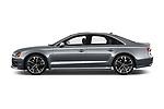 Car driver side profile view of a 2016 Audi S8 4.0-TFSI-quattro-Tiptronic-Plus  4 Door Sedan