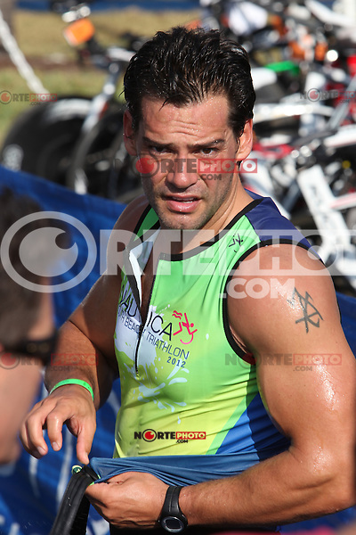 Cristian de la Fuente at the 5th Annual Nautica South Beach Triathlon to benefit the St. Jude Children.s Research Hospital. Miami Beach, Florida. April 1, 2012. © Majo Grossi/MediaPunch Inc.