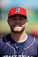 Binghamton Rumble Ponies pitcher Tommy Wilson (3) before an Eastern League game against the Bowie Baysox on August 21, 2019 at Prince George's Stadium in Bowie, Maryland.  Bowie defeated Binghamton 7-6 in ten innings.  (Mike Janes/Four Seam Images)