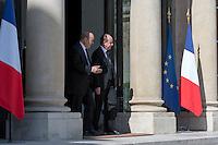 Jean-Yves Le Drian & Jean-Jacques Urvoas - Conseil restreint de sÈcurite et de defense ‡ l'Elysee suite a l'attentat de Nice perpetre le 14 juillet.