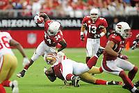 Sept. 13, 2009; Glendale, AZ, USA; Arizona Cardinals running back (34) Tim Hightower against the San Francisco 49ers at University of Phoenix Stadium. San Francisco defeated Arizona 20-16. Mandatory Credit: Mark J. Rebilas-