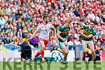 Tommy Walsh, Kerry in action against Ronan McGee, Tyrone during the All Ireland Senior Football Semi Final between Kerry and Tyrone at Croke Park, Dublin on Sunday.