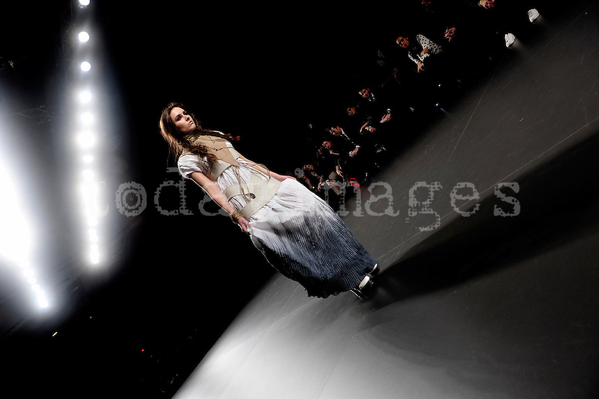 Leyre Valiente at Mercedes-Benz Fashion Week Madrid 2013
