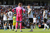 Martyn Waghorn of Derby County talks to Sam Johnstone of West Bromwich Albion before the second penalty during Derby County vs West Bromwich Albion, Sky Bet EFL Championship Football at Pride Park Stadium on 24th August 2019
