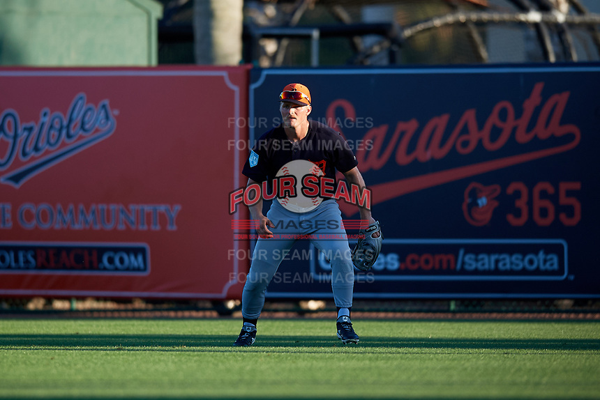 Detroit Tigers right fielder Cam Gibson (81) during a Grapefruit League Spring Training game against the Baltimore Orioles on March 3, 2019 at Ed Smith Stadium in Sarasota, Florida.  Baltimore defeated Detroit 7-5.  (Mike Janes/Four Seam Images)