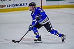 29 December 2018: University of Alabama Huntsville Charger Defenseman Cam Knight, a Senior from North Reading, MA, in third period action against the Northeastern University Huskies at Gutterson Fieldhouse in Burlington, Vermont. The Huskies shut out the Chargers 2-0 in the Catamount Cup tournament at the University of Vermont. Mandatory Credit: Ed Wolfstein Photo *** RAW (NEF) Image File Available ***