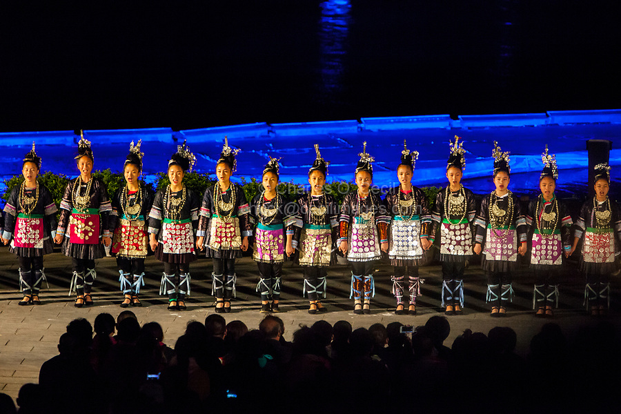 Yangshuo, China.  Impressions Liu Sanjie Theatrical Performance.