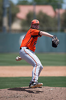 San Francisco Giants Orange relief pitcher Doug Still (60) delivers a pitch during an Extended Spring Training game against the Oakland Athletics at the Lew Wolff Training Complex on May 29, 2018 in Mesa, Arizona. (Zachary Lucy/Four Seam Images)