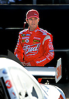 Feb 20, 2009; Fontana, CA, USA; NASCAR Sprint Cup Series driver Kasey Kahne during qualifying for the Auto Club 500 at Auto Club Speedway. Mandatory Credit: Mark J. Rebilas-