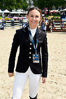 Georgina Bloomberg beim Global Jumping Berlin 2017 in der Arena im Sommergarten der Messe Berlin. Berlin, 28.07.2017