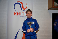 November 30, 2014, Almere, Tennis, Winter Youth Circuit, WJC,  Prizegiving, Tyco Korporaal, boys 14 years, 6 th place.<br /> Photo: Henk Koster