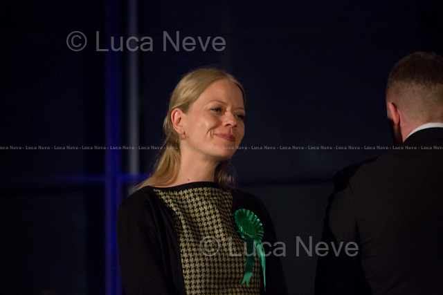Si&acirc;n Berry (Green Party of England and Wales London Mayor Candidate) &amp; Paul Golding (Britain First London Mayor Candidate).<br /> <br /> London, 06-07/05/2016. The morning after the London Mayoral Election, press began to congregate on the ninth floor of City Hall to report on the results and the official announcement of the new Mayor of London. At 15:21, the press team of City Hall announced the results by constituency. At just gone 17:30, the press videographers and photographers were escorted downstairs to the Chamber (second floor) to wait for the official final announcement. The press waited, however, almost five hours for this to happen. At 22:11, the Greater London Returning Officer, Jeff Jacobs, approached the stage and presented the new Greater London Assembly members. And, finally, at 12:18 on the 7th of May (just under nine hours after the first City Hall press announcement), Mr Jacobs officially announced the new Mayor of London, Sadiq Khan for the Labour Party. An official statement (that you can find at https://londonelects.org.uk/news-centre/news-listing/election-count-delay-explained and in the PDF attached to this story) was released on the 7th of May to explain the delay - which was previously described as being due to &quot;minor discrepancies in Mayoral figures&quot;. <br /> For more information, official statements, the results of the Mayoral Election and links for the London Assembly Members Election Results please find the PDF attached at the beginning of the story.<br />    <br /> London Mayoral Election 2016 Results:<br /> (Sources London Elects &amp; Wikipedia)<br /> https://www.londonelects.org.uk/sites/default/files/Part%201%20Election%20of%20the%20London%20Mayor.pdf <br /> https://en.wikipedia.org/wiki/London_mayoral_election,_2016<br /> <br /> London Assembly Members Election 2016 Results:<br /> (Sources London Elects &amp; Wikipedia)<br /> https://www.londonelects.org.uk/sites/default/files/London-wide%20Assembly%20Member%20r