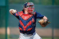 Atlanta Braves Skyler Ewing (88) during practice before a minor league Spring Training game against the Pittsburgh Pirates on March 13, 2018 at Pirate City in Bradenton, Florida.  (Mike Janes/Four Seam Images)