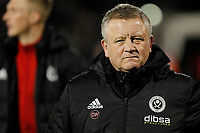 Sheffield United manager, Chris Wilder during the Sky Bet Championship match between Fulham and Sheff United at Craven Cottage, London, England on 6 March 2018. Photo by Carlton Myrie.