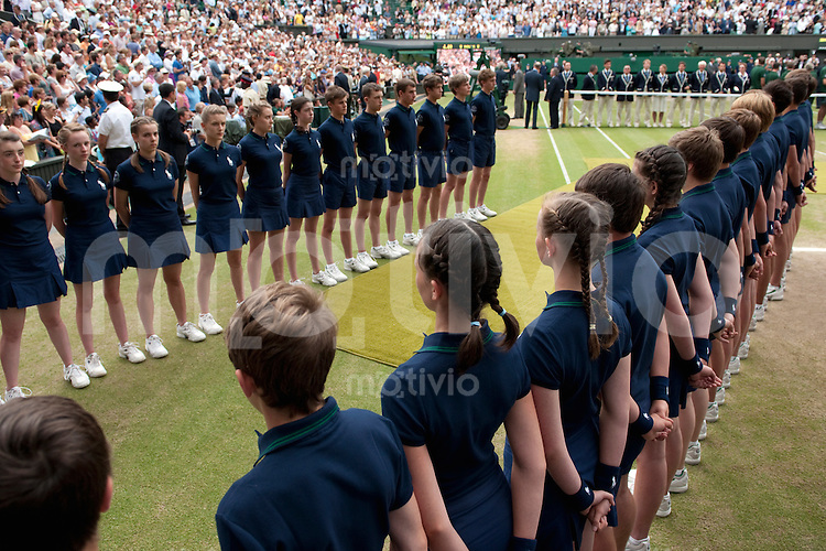 Price presentation after The Final of the Gentlemens Singles Tomas Berdych (CZE) plays against Rafael Nadal (ESP) on Centre Court. The Wimbledon Championships 2010 The All England Lawn Tennis & Croquet Club  Day 13 Sunday 04/07/2010