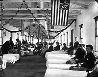 Hospital, interior view.  Probably Carver Hospital, near Washington, DC.  Mathew Brady Collection.  (Army)<br /> Exact Date Shot Unknown<br /> NARA FILE #:  111-B-173<br /> WAR & CONFLICT BOOK #:  219