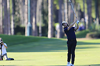 Tommy Fleetwood (ENG) plays his 2nd shot on the 17th hole during Friday's Round 2 of the 2018 Turkish Airlines Open hosted by Regnum Carya Golf &amp; Spa Resort, Antalya, Turkey. 2nd November 2018.<br /> Picture: Eoin Clarke | Golffile<br /> <br /> <br /> All photos usage must carry mandatory copyright credit (&copy; Golffile | Eoin Clarke)