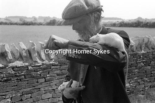 "Fred Abel. Bibury Gloucestershire Uk 1968. ""Fred Abel Circus. As seen on TV. Animal Antics ."