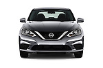 Car photography straight front view of a 2017 Nissan Sentra S 4 Door Sedan Front View